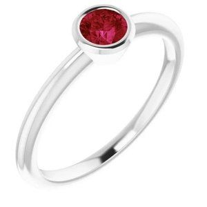 Solitaire Ring 0.75 Carats Burmese Ruby Ladies